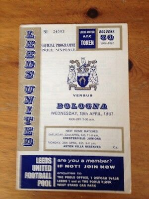 LEEDS UNITED v BOLOGNA INTER-CITY FAIRS CUP Q/F 2nd LEG PROGRAMME 1966/67