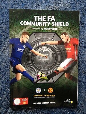 LEICESTER CITY v MANCHESTER UNITED F.A COMMUNITY SHIELD PROGRAMME 2016