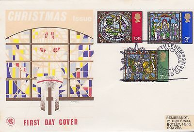 Gb Stamps First Day Cover 1971 Christmas Bethlehem Wessex Rares Postmark