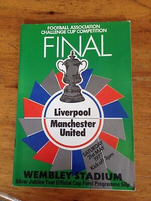 LIVERPOOL v MANCHESTER UNITED FA CUP FINAL PROGRAMME 1977
