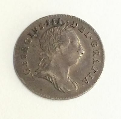 George III Young Bust Three pence