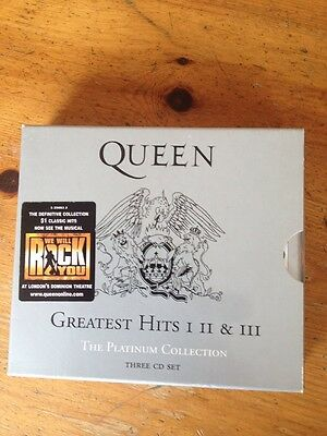 QUEEN - GREATEST HITS 1,2 & 3 ( 3 x DISC CD ALBUM )