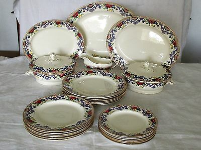 Art Nouveau 24 Piece Dinner Service Made By Adderleys Ltd., England