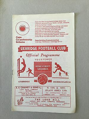 UXBRIDGE v HORNCHURCH 1966/7.