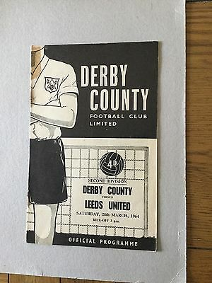 DERBY COUNTY v LEEDS UNITED 1963/4.