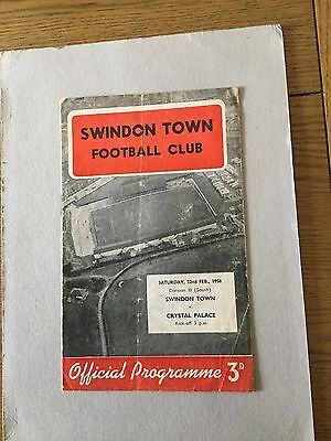 SWINDON TOWN v CRYSTAL PALACE 1957/8.