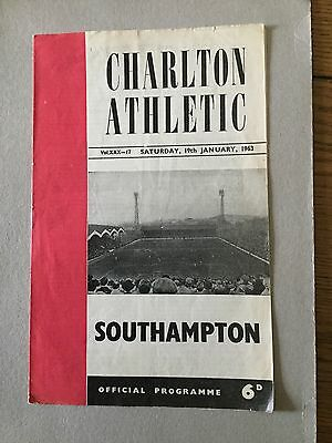 CHARLTON ATHLETIC v SOUTHAMPTON 1962/3, Match Was Abandoned.