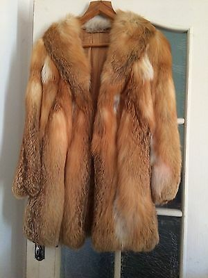 Real Red Fox Fur jacket 1980's