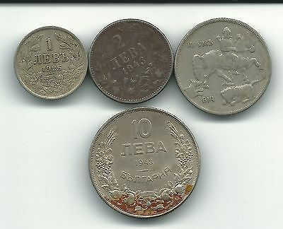 Bulgaria Lot Of 4  Coins