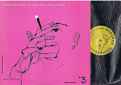 INTERPRETATIONS by The STAN GETZ Quintet - LP Jazz - NORGRAN MG N-1029 U.S.A.