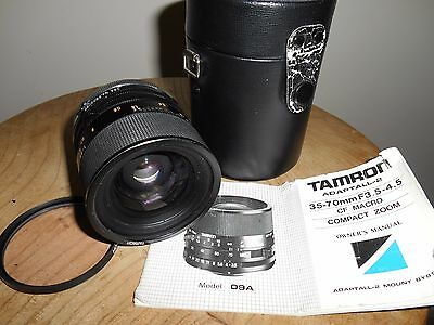 TAMRON CF MACRO 1:3.5-4.5/35-70mm Lens with TAMRON ADAPTALL 2(for ROLLEI)