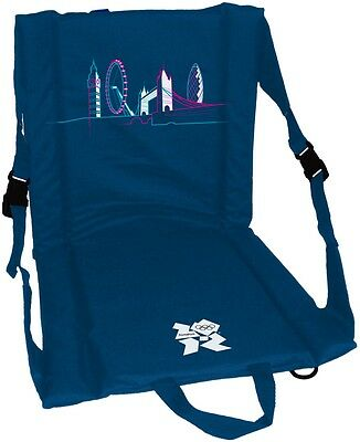 PORTABLE outdoor FOLDING SEAT chair camping picnic with flat tourist icon logo