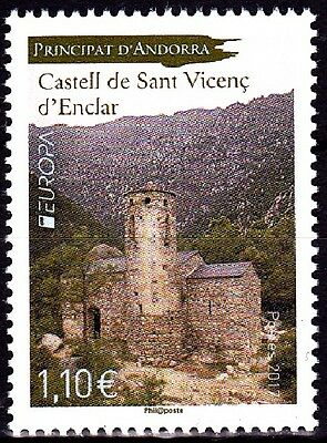 EUROPA CEPT - 2017 - Andorra (French post) - Castles ** MNH
