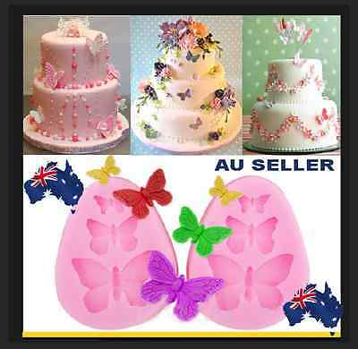 3D Silicone Butterfly Mold Mould Cake Sugar Craft Fondant DIY Tool Backing Ice