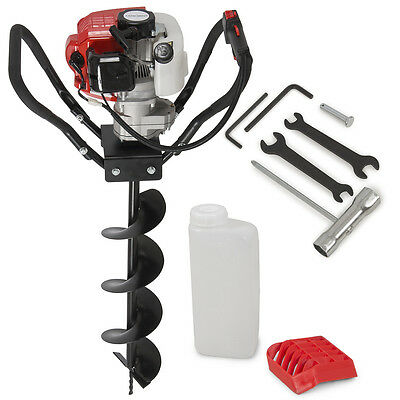 "Earth Auger/ Hole Digger Gasoline 52cc Single Person Meet EPA W/6"" Drill Bit"