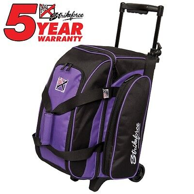 KR Eliminator 2 Ball Roller Bowling Bag Color Purple