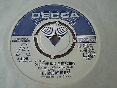 """Moody Blues - Steppin' In A Slide Zone - 1978 Uk Demo - 7"""" In Nr Ex Condition"""