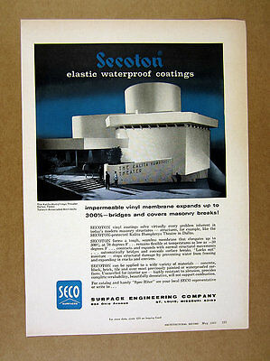1965 Kalita Humphreys Theater building Dallas SECO Surfaces print Ad