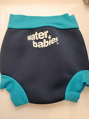 Water Babies Happy Nappy Navy & Blue Swim Nappy sz M 3-6 Months