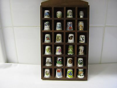 Thimbles with display cabinet