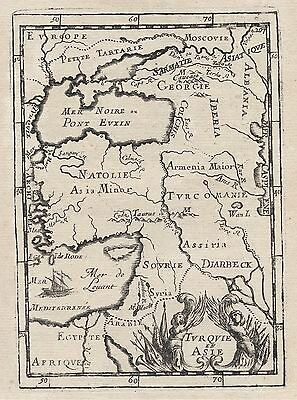 1683 Asia Turkey Middle East Black Sea Syria Armenia 17th Century Map Mallet