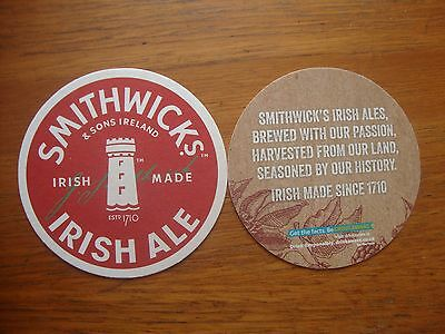 2  Smithwicks   Irish   Ale  Beer  Mat / Coaster / Sous Bock    New