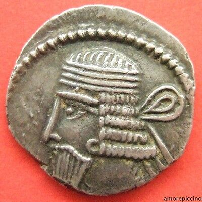 Kings of Parthia Vologases I  AD 51-78 AR Drachm