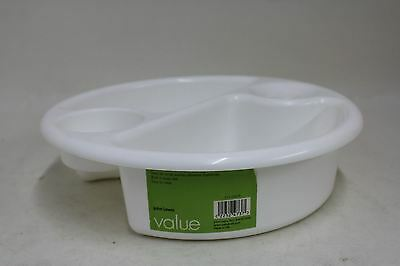 JOHN LEWIS Value White Polypropylene Plastic Top And Tail Baby Wash Bowl