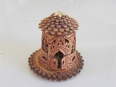 Handmade Russian Birch Bark Wood Thimble - Mint