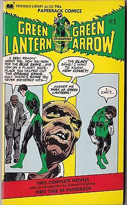 1972 DC Paperback Comics Green Lantern & Green Arrow Comic Book 1st Printing