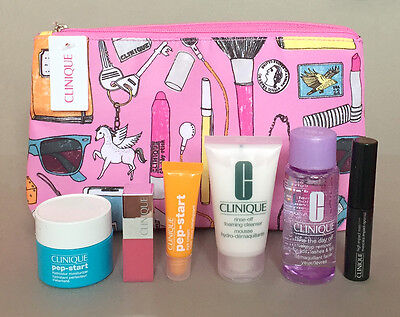 Clinique gift set with make up bag 2017 bonus time boots