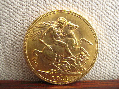 George V Gold Sovereign C 1911 George and Dragon