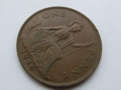 Scarce George VI - 1946 Dot  Penny - Good collectable coin