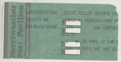 BAD COMPANY & DAMN YANKEES 8/19/90 Columbia MD Concert Ticket Stub! Co
