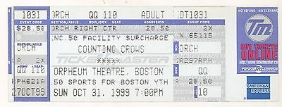 Rare COUNTING CROWS 10/31/99 Boston MA Orpheum Theatre Concert Ticket!