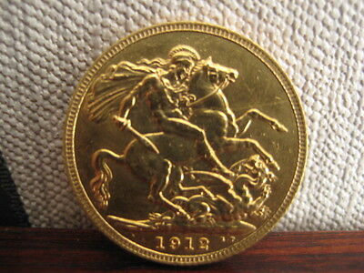 George V Gold Sovereign 1912 George and Dragon