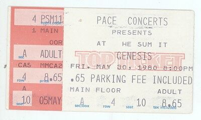 RARE Genesis 5/30/80 Houston TX The Summit Concert Ticket Stub!