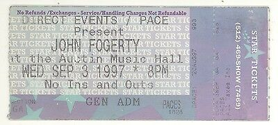 JOHN FOGERTY 9/3/97 Austin Concert Ticket Stub! CCR Creedence Clearwater Revival