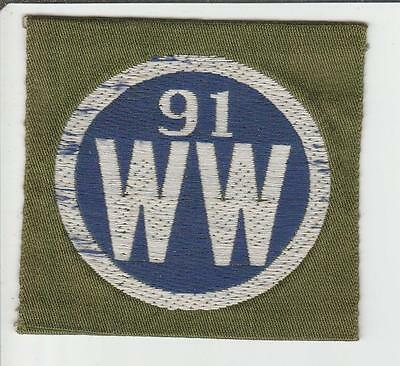 WW 1 US Army 91st Division Liberty Loan Patch Inv# S100