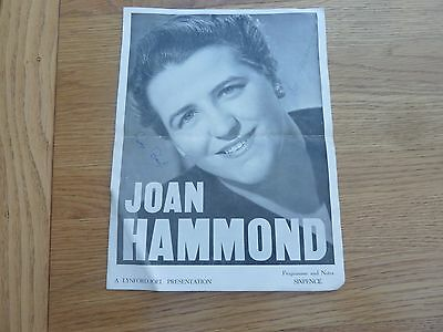 1950s CONCERT PROGRAMME JOAN HAMMOND & GEORGE BROUGH HANDSIGNED BY BOTH