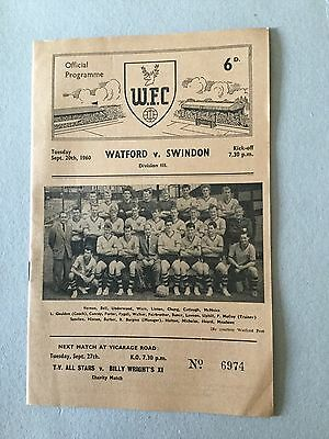 WATFORD v SWINDON 1960/1.