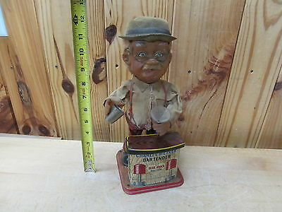 Vintage Tin Litho Battery Operated Japan Charlie Weaver Bartender Nomura Toys