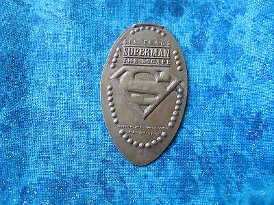 """S"" SUPERMAN THE ESCAPE COPPER Elongated Penny Pressed Smashed 25"