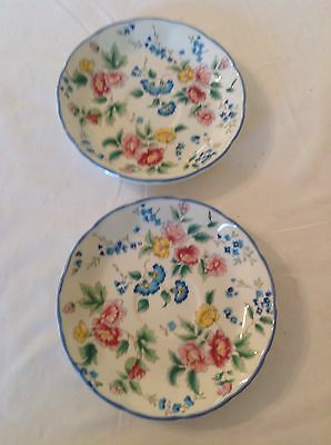Laura Ashley (1990) Hazelbury Saucers x 2 - Diameter - 14cm