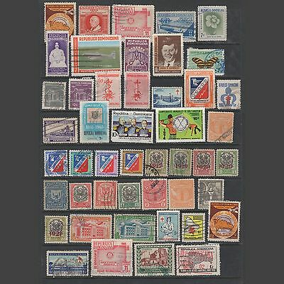 DOMINICANA:  small lot of  old stamps – used --