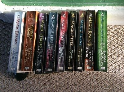 kate daniels magic series of books by ilona andrews no 1-9