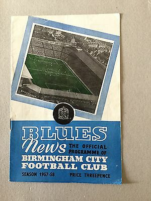 BIRMINGHAM CITY v SAMPDORIA ( Fr ) 1957/8.