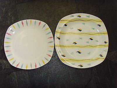 Two Midwinter Jessie Tait Plates Fiesta and Cherokee AF