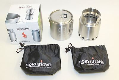 BNIB SOLO STOVE & Solo Pot 900 Combo Lightweight Woodburning Cooking System
