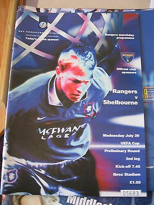1998-99 Rangers v Shelbourne UEFA Cup Preliminary round 2nd leg 29.7.1998